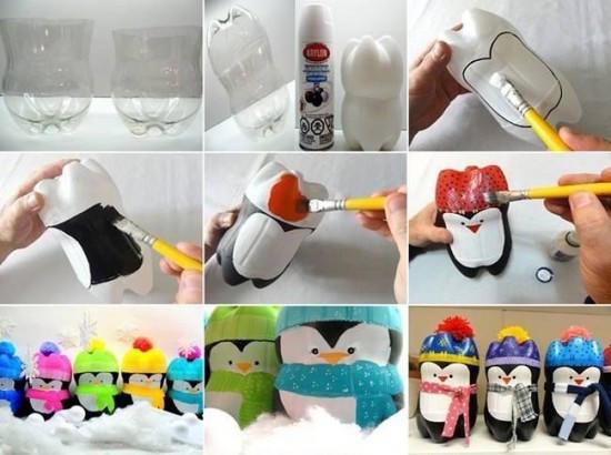 Как сделать пингвина из бутылок. Фото с сайта http://thewhoot.com.au