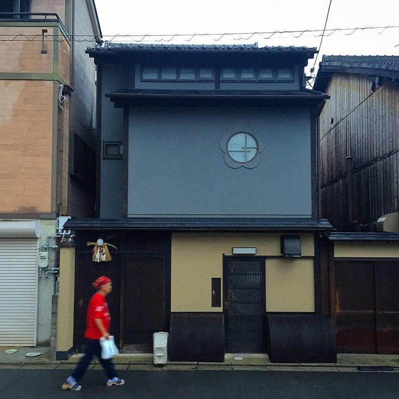 Традиция и современность архитектура, дома, здания, киото, маленькие здания, местный колорит, фото, япония