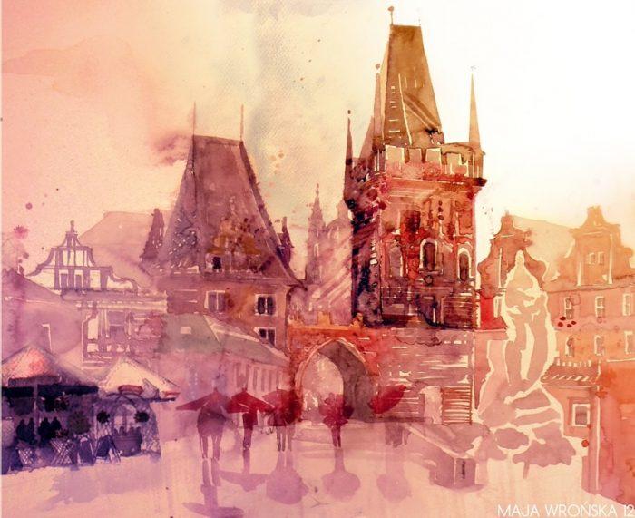 Акварельное настроение —  чувства и эмоции, живущие в городских пейзажах кисти Maja Wronska