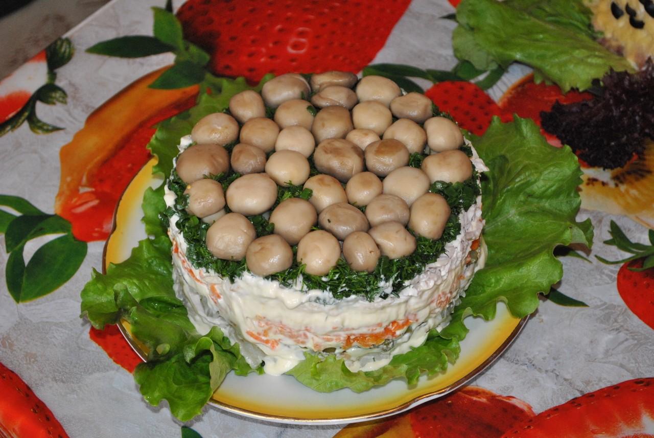 Рецепт салата поляна пошагово
