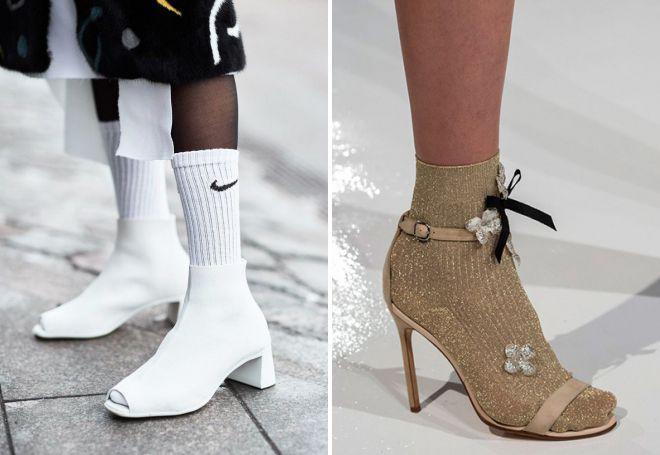 женские босоножки с носками