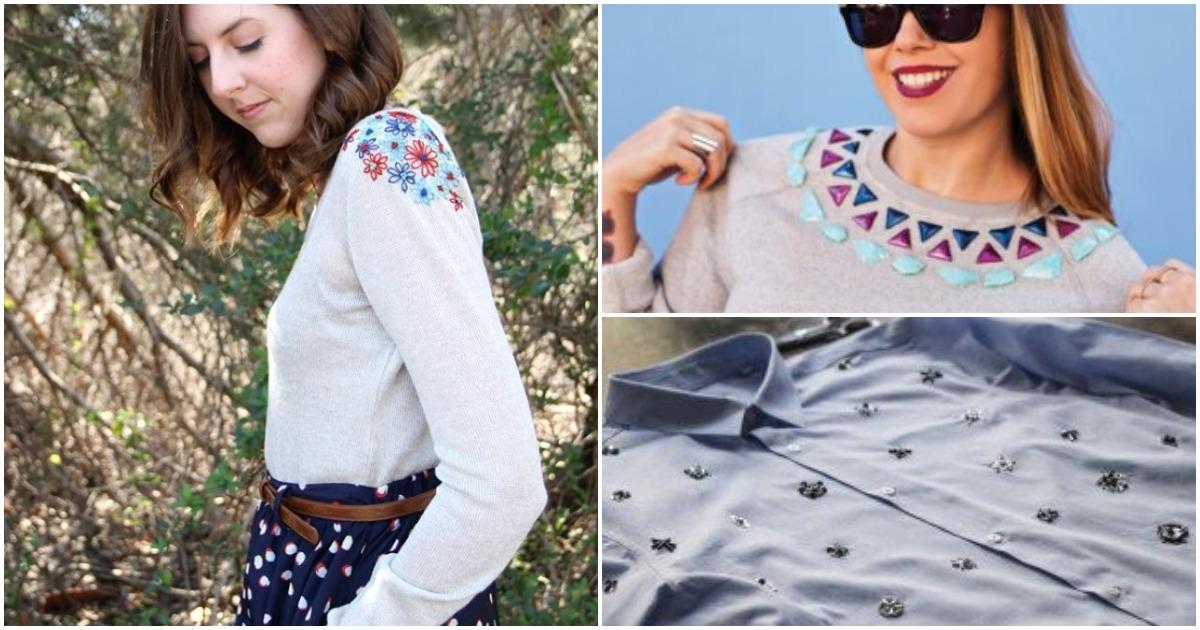 Отличные идеи для стильного обновления рубашки или свитшота