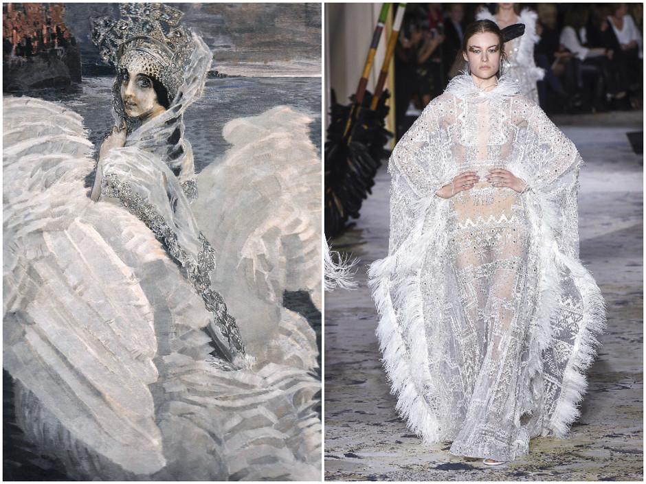 25 образов с Недели высокой моды в Париже, похожих на шедевры живописи