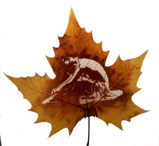 Кружевное чудо в листьях