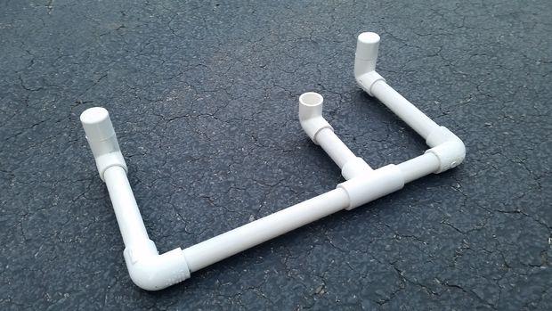 Бельевая сушилка для крепления из пластиковых труб