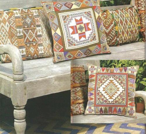 Схемы для вышивания подушек в восточном стиле