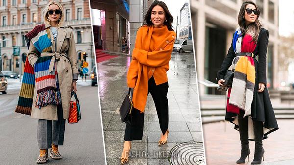 Как носить шарф и быть в тренде: 5 модных способов на сезон 2019