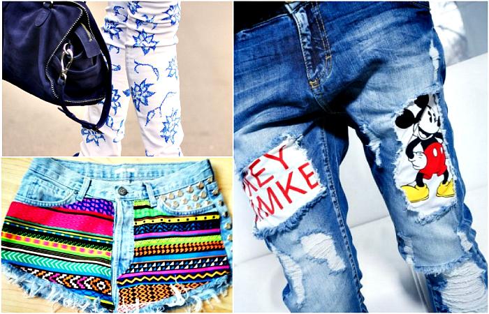 Стильный деним: 16 крутейших идей трансформации старых джинсов