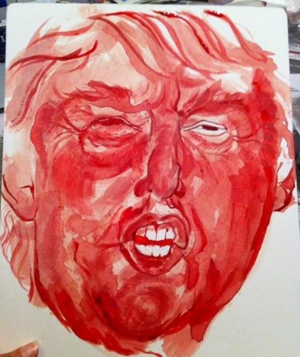 картина из менструальной крови