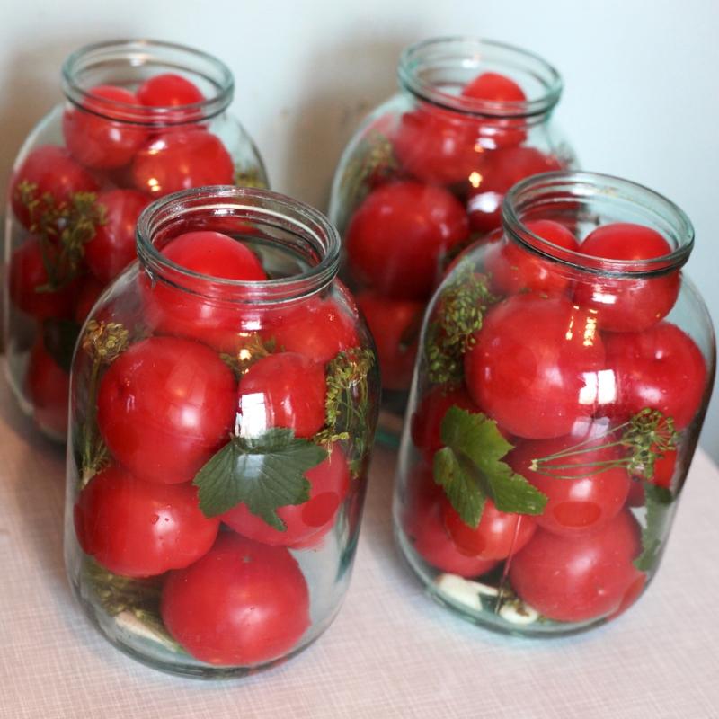 маринованные помидоры без уксуса с лимонной кислотой