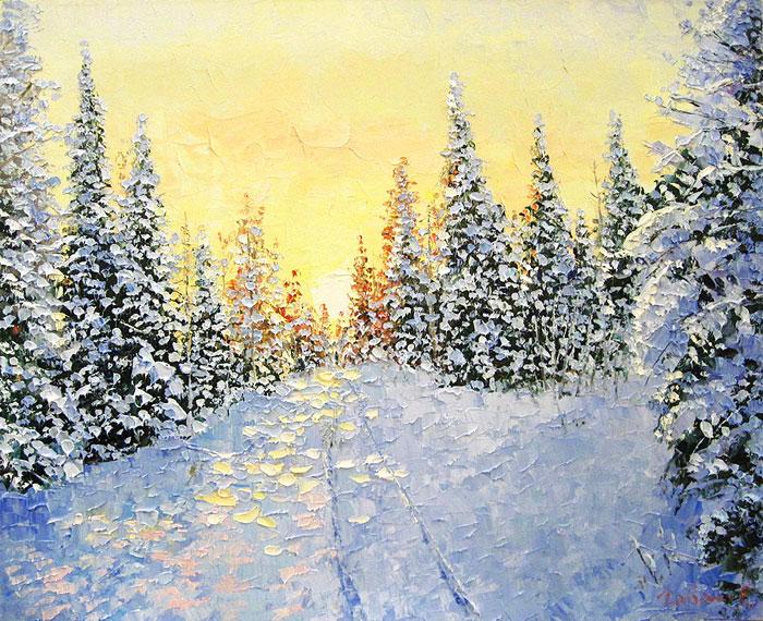 Мороз и солнце, день чудесный... Зима в творчестве художника Евгения Гавлина