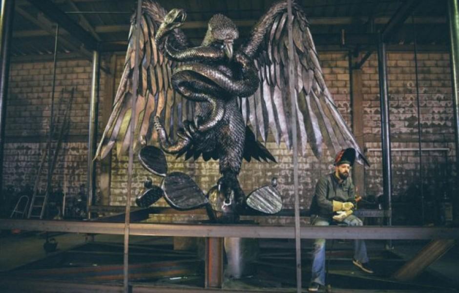 Скульптуры из металла от Дэвида Мадеро