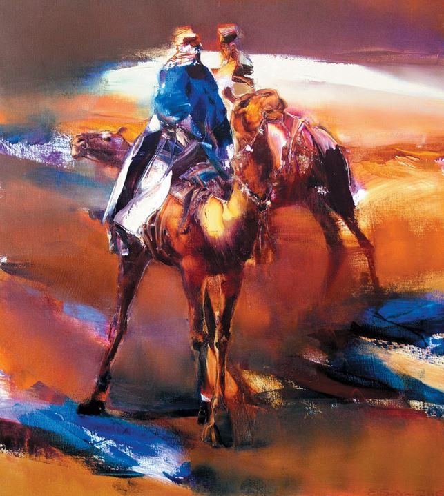 Яркая живопись на грани абстракции — творчество художника Валерия Блохина