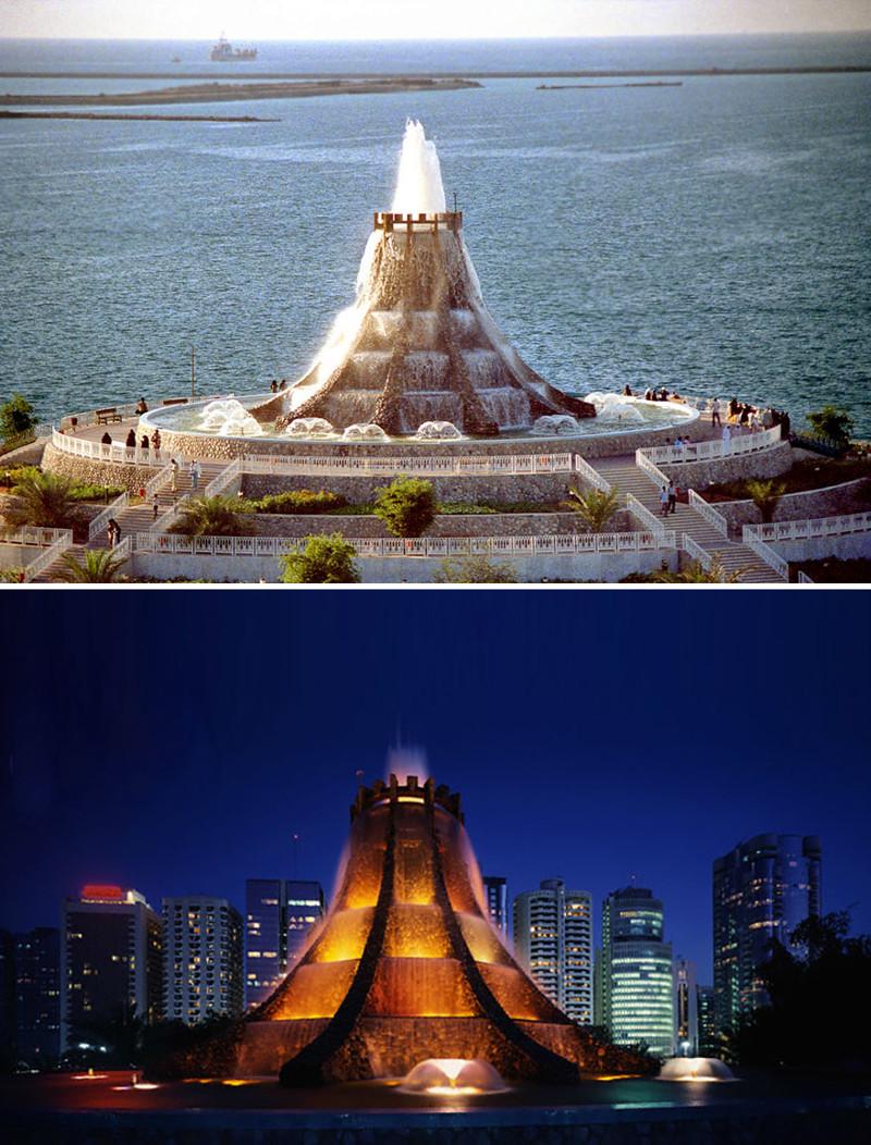 """""""Вулкан"""", Абу-Даби, ОАЭ город, достопримечательность, интересное, мир, подборка, страна, фонтан, фото"""