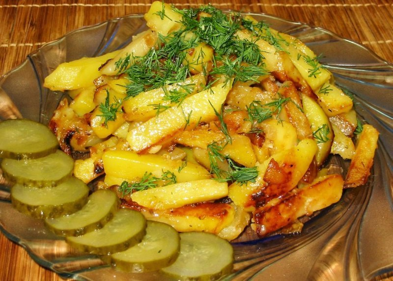 Воскресное: русские особенности жареной картошки еда, жареная картошечка, своими руками, сделай сам
