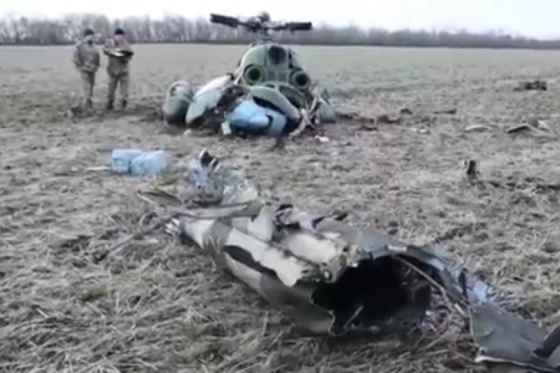 Самая мощная армия Европы теряет снаряды и вертолеты: под Краматорском повис на проводах Ми-2