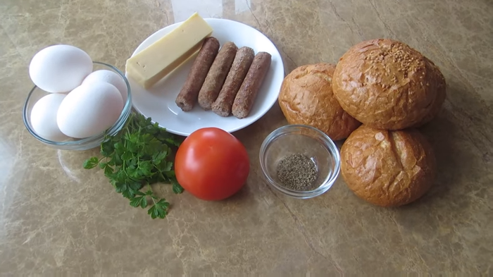 Завтрак из простых продуктов! Завтрак, Другая кухня, Рецепт, Видео рецепт, Еда, Вкусно, Видео, Длиннопост, Булочки