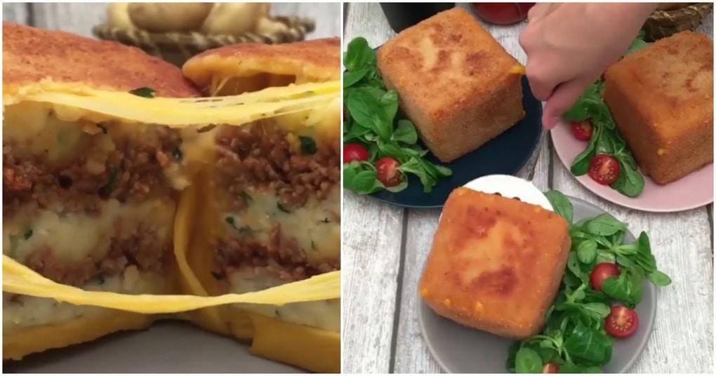 Фаршированные сырные кубики: необычная подача и изысканный вкус