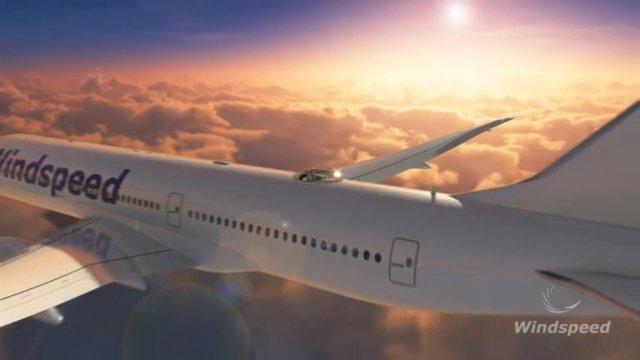 Концепт пассажирских кресел на крыше самолёта