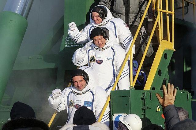 С Байконура стартовала ракета с пилотируемым кораблем «Союз МС-07»