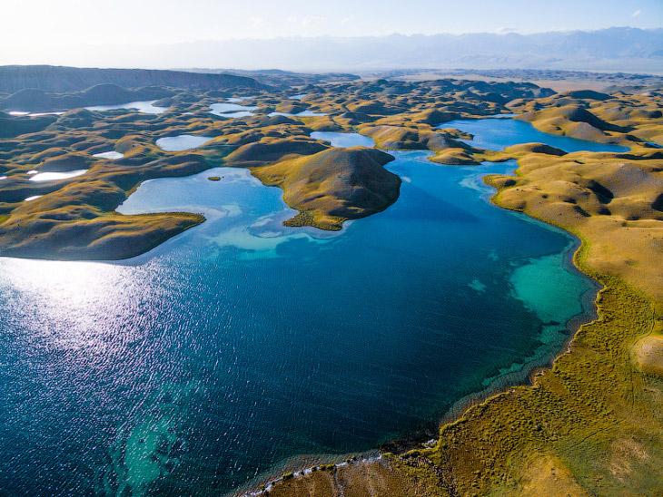 Природа Киргизии с высоты