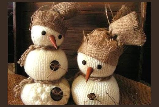 снеговики колобки