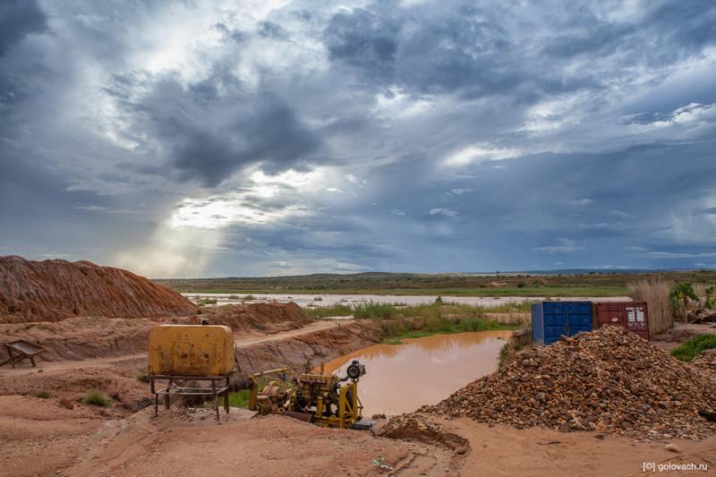 Два дня на сапфировых приисках Мадагаскара мадагаскар, путешествия, факты