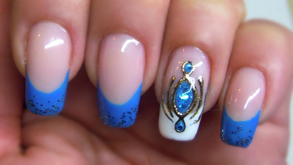 Камни на ногтях: дизайн, тех…