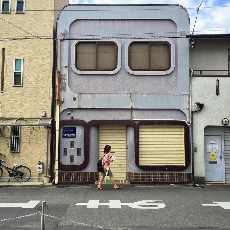 "Парикмахерский салон ""Ямасита"" архитектура, дома, здания, киото, маленькие здания, местный колорит, фото, япония"