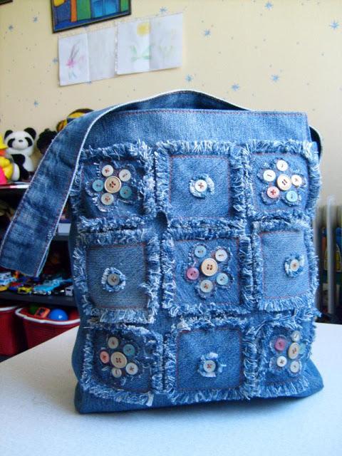 Декорирование джинсовой сумки своими руками 42