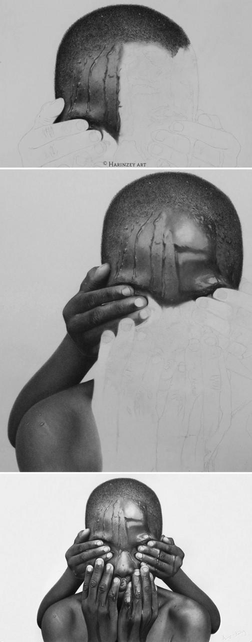 Рисунки простым карандашом или живые люди