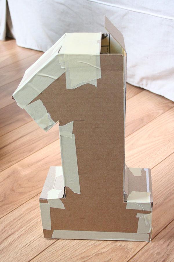 Цифра 1 своими руками из картона и салфеток видео