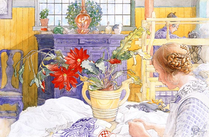 """""""Дом-под-солнцем"""" или домашние радости замечательного шведского художника  Карла Ларссона"""