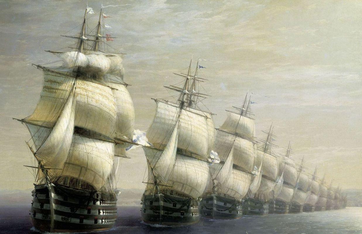 Корабли в живописи. Корабли и их история. Айвазовский.