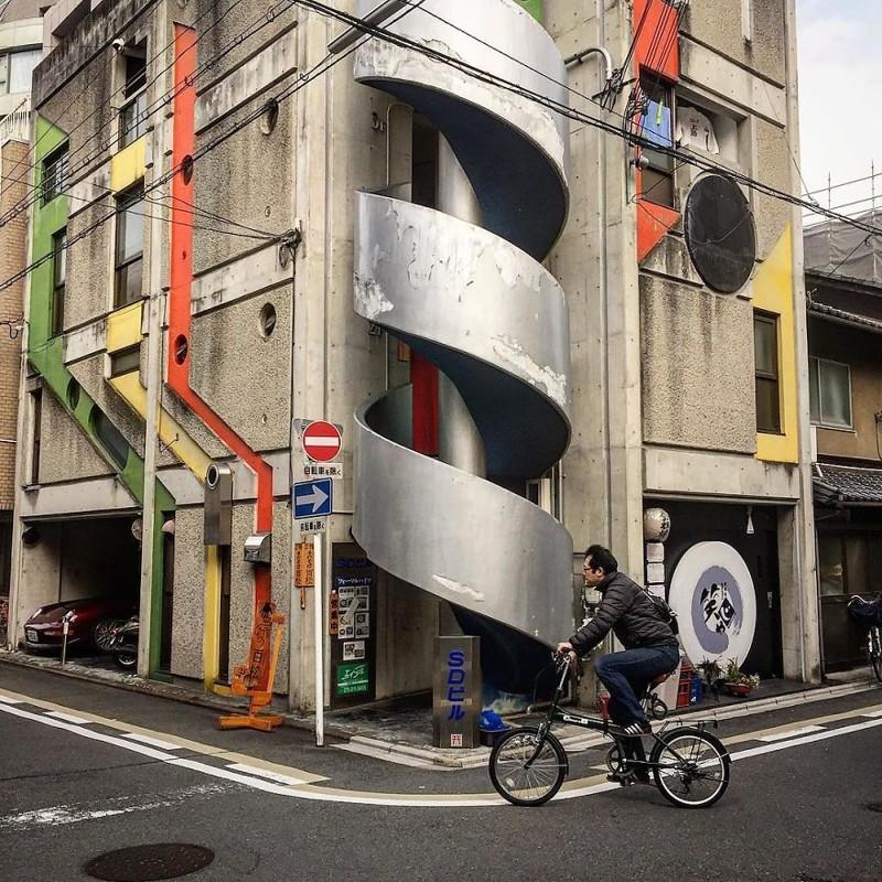 Городская архитектура архитектура, дома, здания, киото, маленькие здания, местный колорит, фото, япония