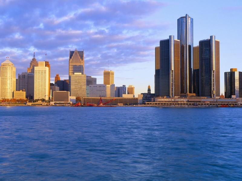 Город Детройт, штат Мичиган, США круто, переезд, страны, уезжают
