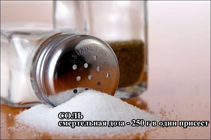 Смертельная доза поваренной соли вред, факты, человек