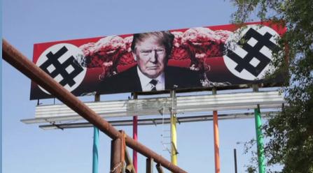 В США появился нацистский постер Трампа