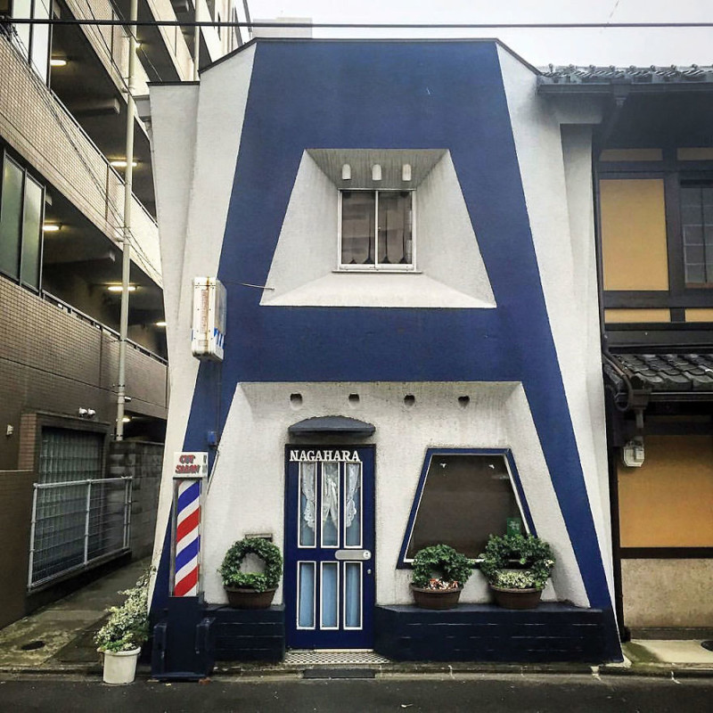 """Парикмахерская """"Нагахара"""" архитектура, дома, здания, киото, маленькие здания, местный колорит, фото, япония"""