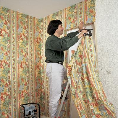 ткань на стены вместо обоев фото