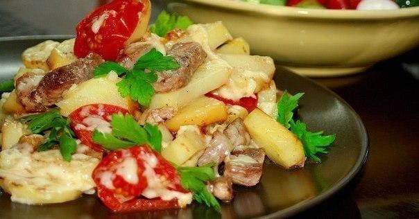 Шикарное блюдо: картофель «по-французски» на сковороде