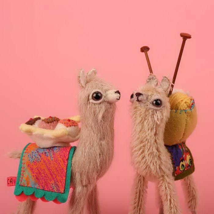 Очаровательные шерстяные игрушки Cat Rabbit