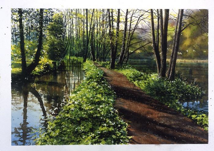 «Шёпот листьев и журчание весеннего ручья…» Английский художник Joe Francis Dowden