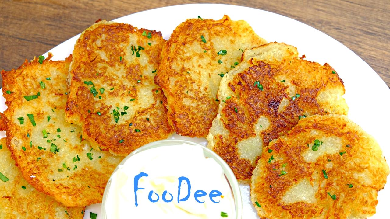 Правильные драники (деруны) без яиц и муки. Очень вкусный и простой рецепт драников.