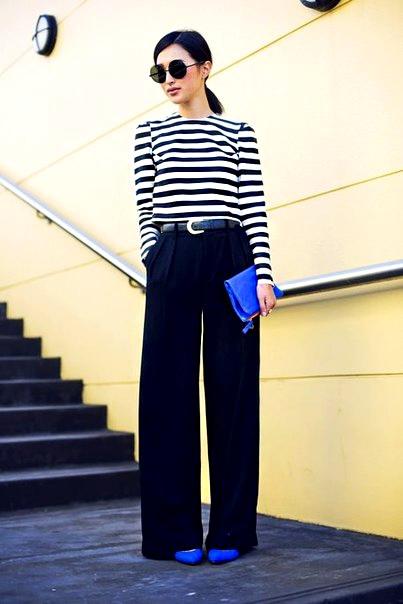 Как подчеркнуть свою фигуру с помощью широких брюк: 18 свежих идей для вашего гардероба