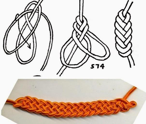 Как сделать нить из узелков
