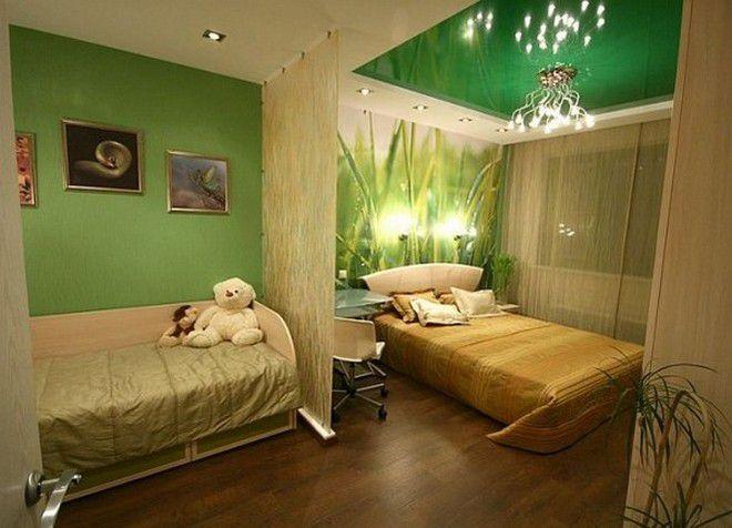 Дизайн для однокомнатной квартиры для родителей и ребенка
