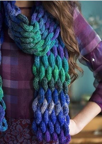 Плетеный шарф (diy)