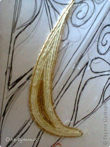 Картина панно рисунок Мастер-класс Моделирование конструирование Филигранный павлин МК Шпагат фото 15