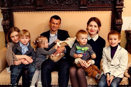 Анна Семак, Сергей Семак с детьми